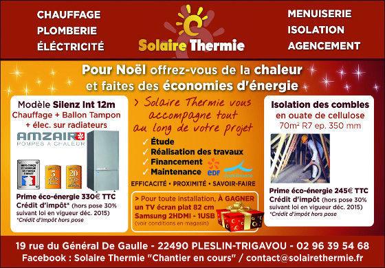 pompe à chaleur solaire thermie