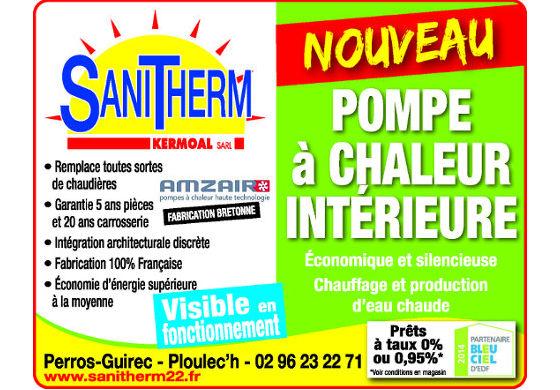 sanitherm expose une pompe à chaleur amzair