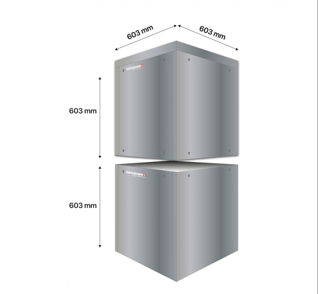Superposition de plusieurs modules SOLUZEO - Solutions Pompes à chaleur AMZAIR