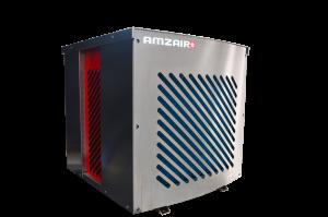 Vue 3D de la pompe à chaleur connectée AIZEO AMZAIR