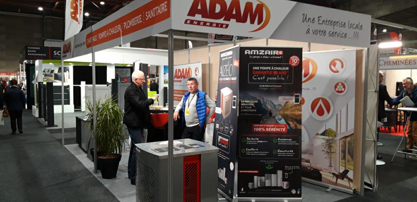 ADAM Energie partenaire installateur AMZAIR pompe à chaleur