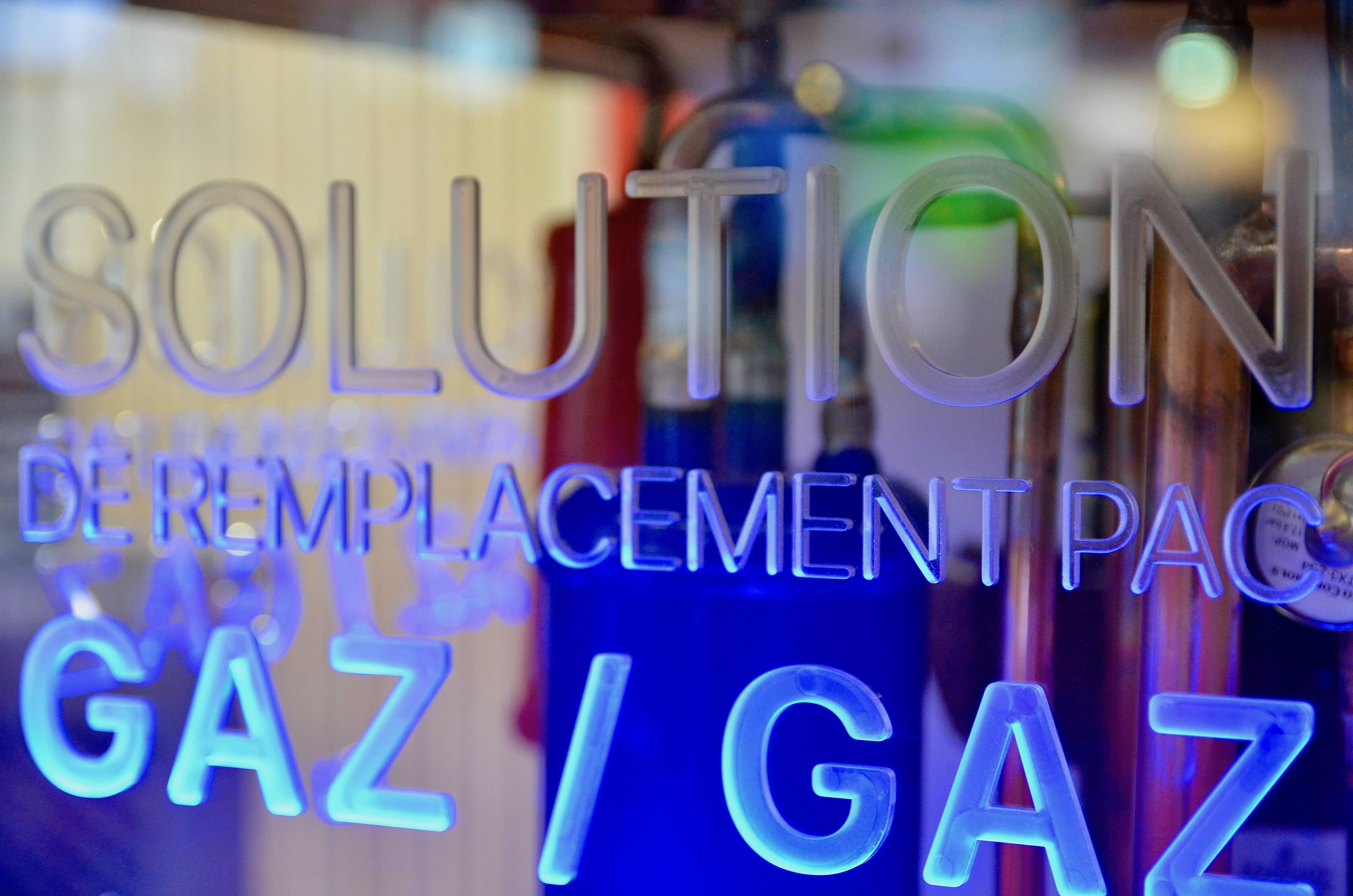Solution de remplacement pompe à chaleur gaz/gaz au R32 vitrine LED