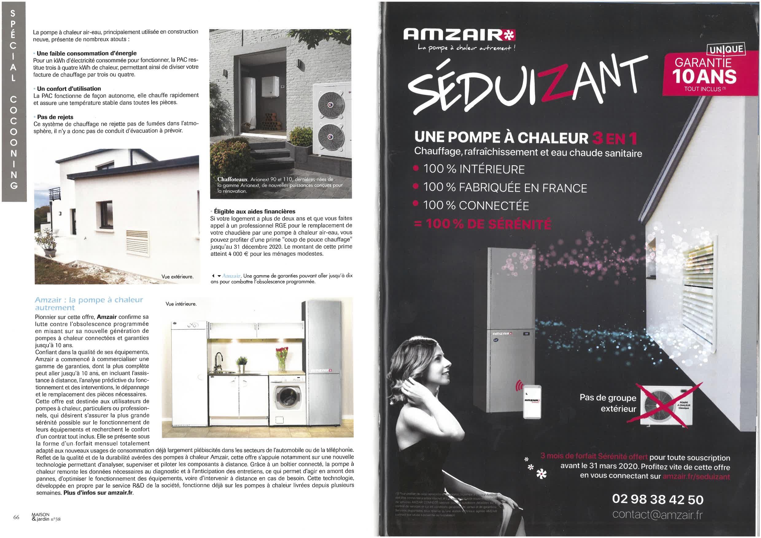 AMZAIR pompe à chaleur Magazine Maison & Jardin publicité