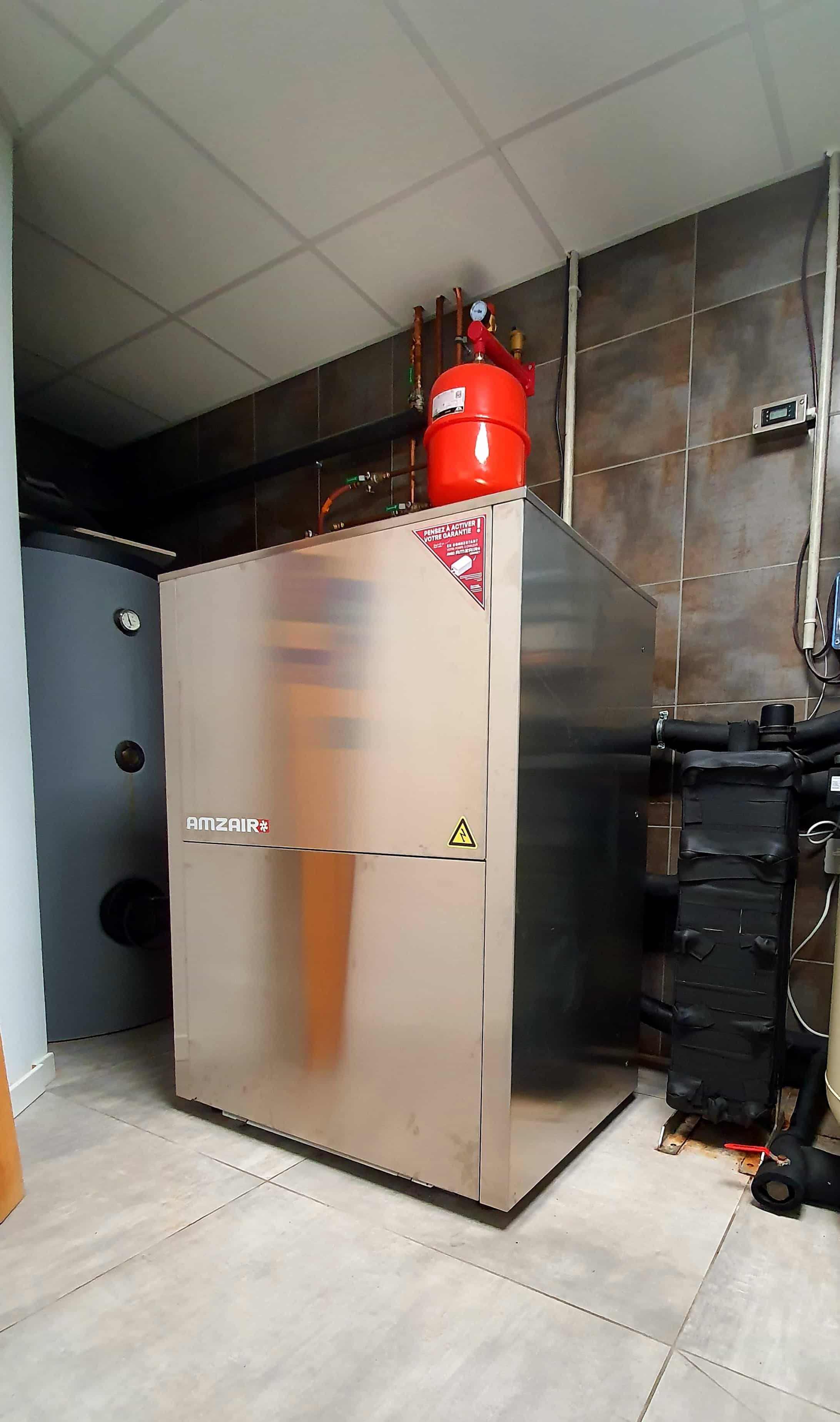 La pompe à chaleur géothermique TEREO AMZAIR installée en Alsace