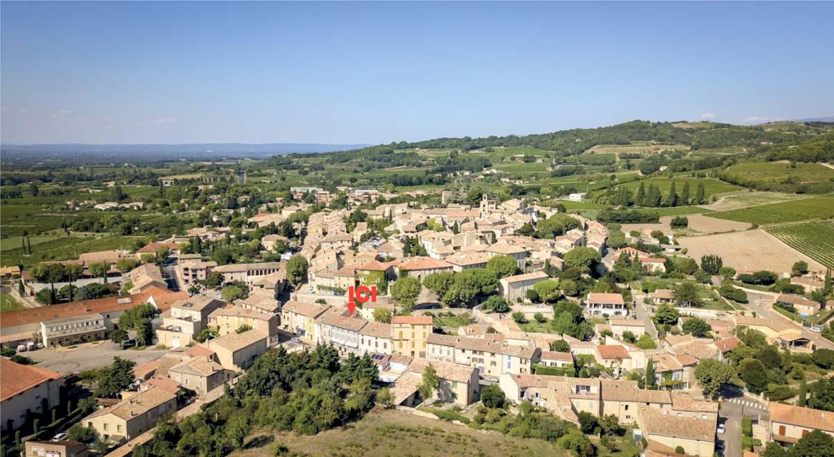 Vue aérienne de l'emplacement de l'Hotel du Midi