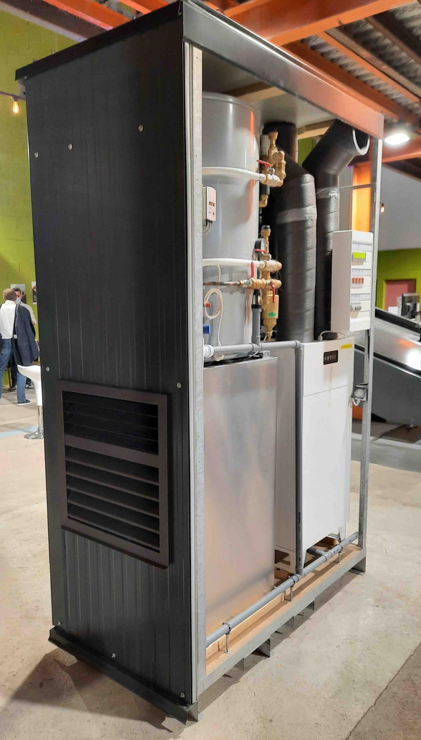 Module energie ENERPOD batiment collectif - concours EnergieSprong Lauréat 2020 - AMZAIR pompe à chaleur