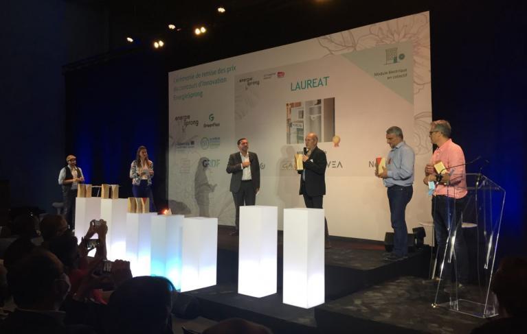 Photo remise des prix Lauréat EnergieSprong