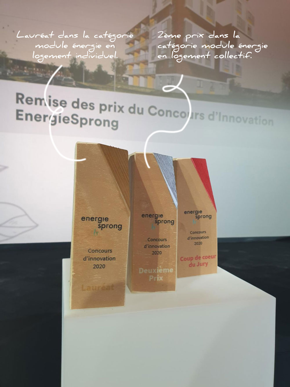 Prix gagnés par AMZAIR au concours EnergieSprong 2020