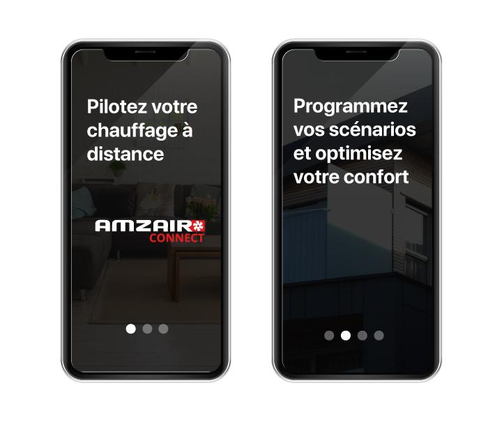 Application AMZAIR Connect pilotage à distance pompe à chaleur connectée