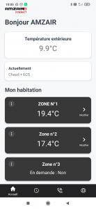 2 zones de chauffage AVEC le thermostat connecté TH TUNE